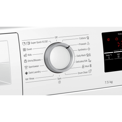 Bosch 7.5kg Front Load Washer 1100 rpm Serie 4 WAN22121SG