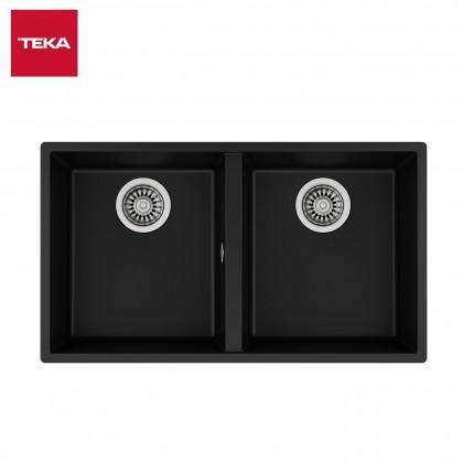 Teka Inset Tegranite Sink Two Bowls SQUARE 2B 760 TG