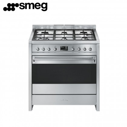 Smeg A1-9 Opera Gas Range Cooker 90cm (Stainless Steel)