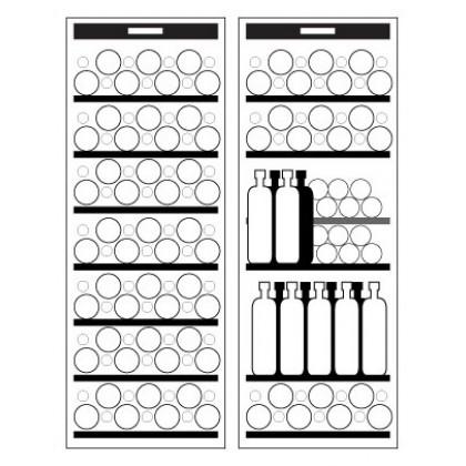 Vintec 155 Bottles Freestanding / Slot-in Wine Cellar V190SG2EBK (Black)
