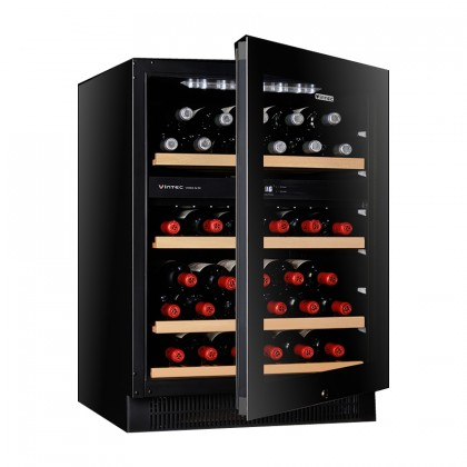 Vintec 40 Bottles Freestanding / Slot-in Wine Cellar V40SG2EBK (Black)