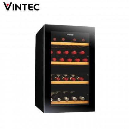 Vintec 35 Bottles Freestanding Wine Cellar V30SGMEBK (Black)