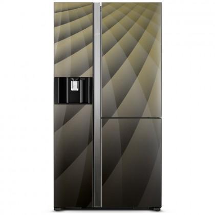 Hitachi 651L R-M820AGP4MX Inverter Side by Side Luxury Refrigerator (Diamond)