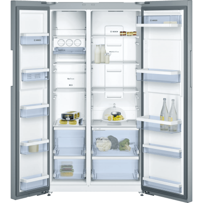 Bosch Serie | 4 KAN92VI35I 658L Side By Side Refrigerator (Stainless Steel with Anti-fingerprint)