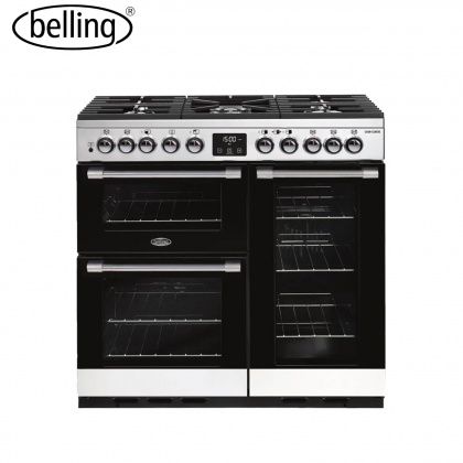 Belling DX90DF 90cm Cookcentre Deluxe Dual Fuel Range Cooker (Stainless Steel)
