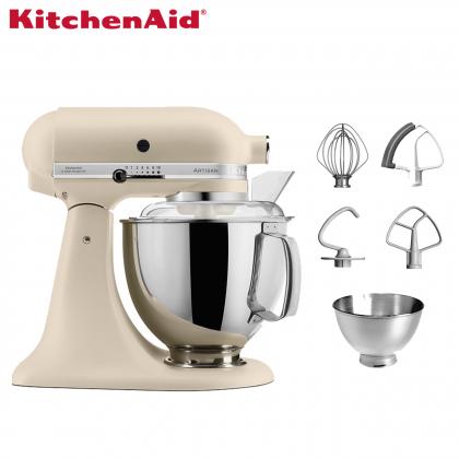 KitchenAid 5KSM175PSB Artisan 4.8L Tilt-Head Twin Bowl Stand Mixer (Fresh Linen) 5KSM175PSBFL