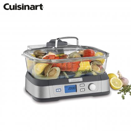 Cuisinart Cookfresh™ Digital Glass Food Steamer 5L 5 Program (Stainless Steel)