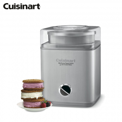 Cuisinart ICE-30BC Pure Indulgence Frozen Yogurt-Sorbet & Ice Cream Maker 1.9L (Silver)