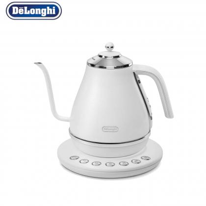 Delonghi KBOE2030.W Icona Gooseneck Pour Over Coffee Kettle 1.0L 2000W (White)