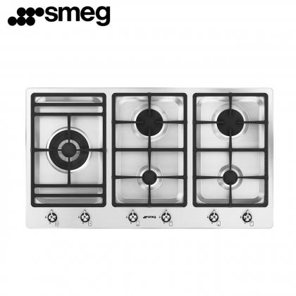 Smeg PS906-5 Classic 5 Burner Gas Hob 90cm (Stainless Steel)