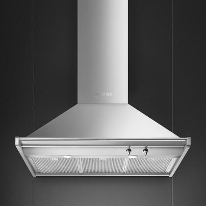 Smeg KD90HXE Opera Chimney Hood 90cm 800 m3/h (Brushed Stainless Steel)