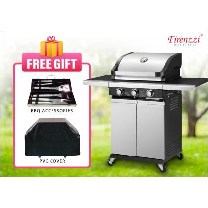 Firenzzi FBQ-1038 Outdoor BBQ Grill 3 Burner