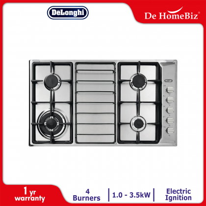 Delonghi IL 419 ASD DX 4 Burners Gas Hob 3.5kW (Stainless Steel)