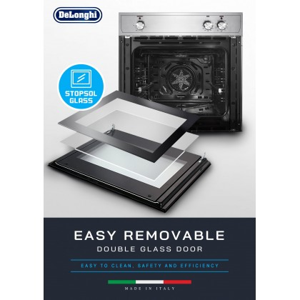 Delonghi DBO-6377 Built-in Oven 59L 9 Functions - Made in Italy