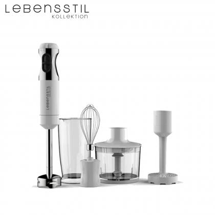Lebensstil Kollektion LKHB-303WH Hand Blender Set (White)